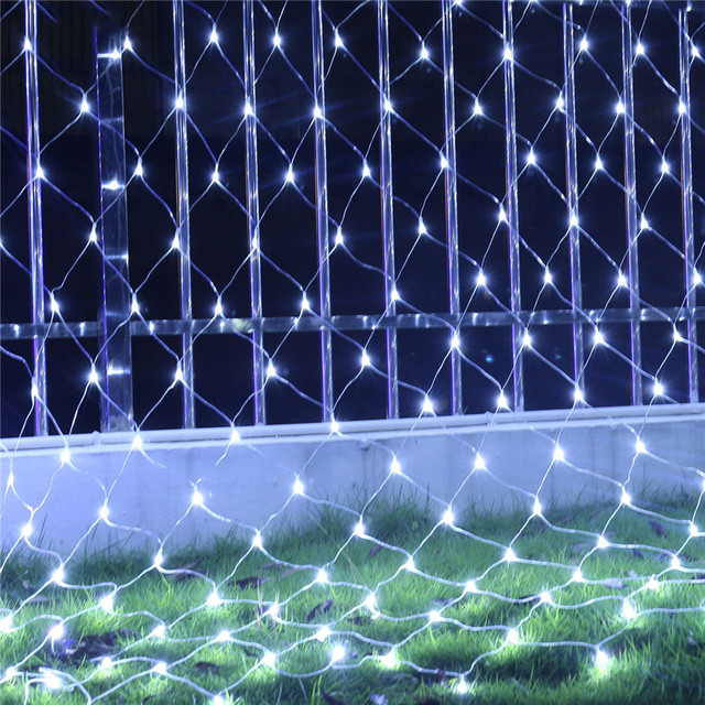BEIAIDI 2x2M 3x2M LED Net Mesh Fairy String Light Garland Window Curtain Christmas Fairy Light Wedding Party Holiday Light
