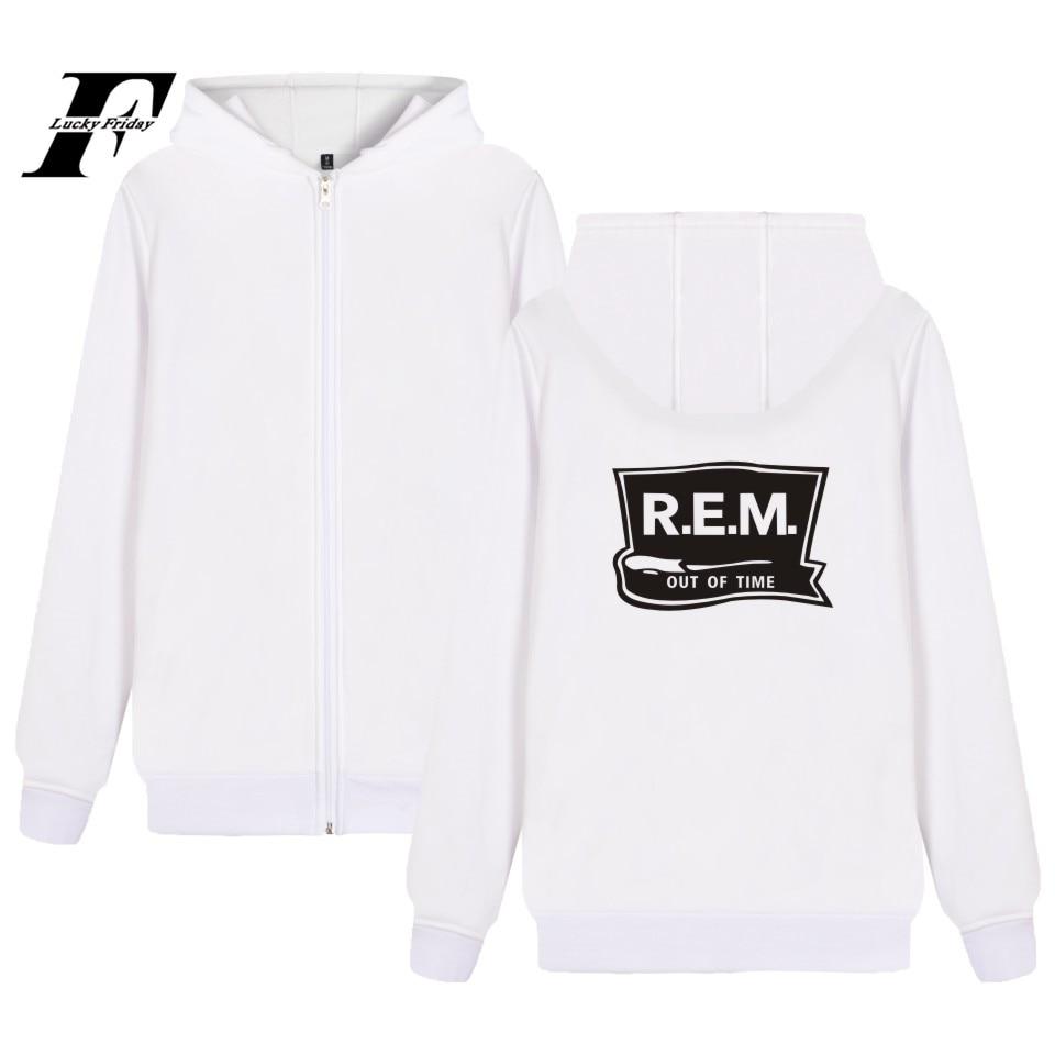 Rock Band R.E.M Hoodie Zipper Music Band C.R.E.A.M. Sweatshirt Winter Coat Plus Jacket Rapid Eye Movement Hoodies Zipper