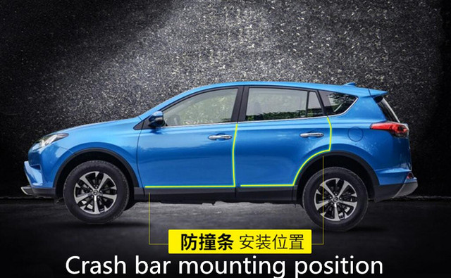 car door protection rubber strip stickers for hyundai tucson 2016