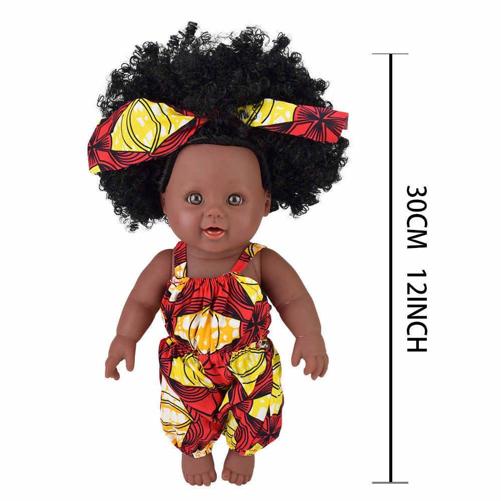 Милая шпилька для волос! Кукла реборн boneca поп куклы для девочек Новорожденные черные куклы силиконовые Рапунцель baby alive игрушка девочка малыш пупи