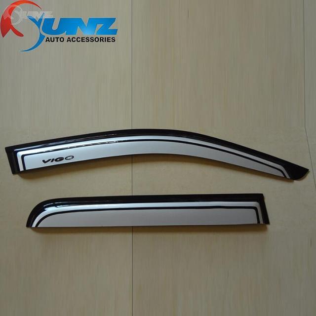 2012-2014 Window Wind Deflectors Of Accessories For Toyota Hilux Vigo Silver Color Toyota Hilux Car Window Rain Guard Ycsunz
