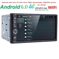 Universal 2 Din Android 6 0 Car Multimedia Player GPS Wifi Bluetooth Radio Quad Core DDR3