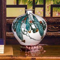 Jingdezhen ceramic vase porcelain ornaments loofah wedding gifts crafts porcelain decoration room Home Furnishing