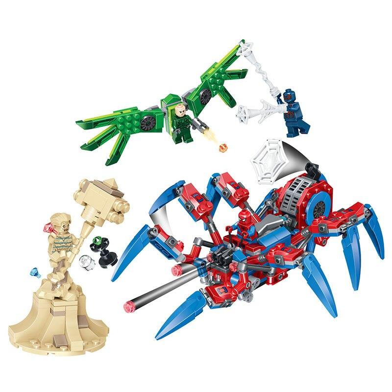 64023 puzzle blocs de construction Spider-Man. spider blocs bon matériel sûr pour les enfants jouets intelligents blocs de briques