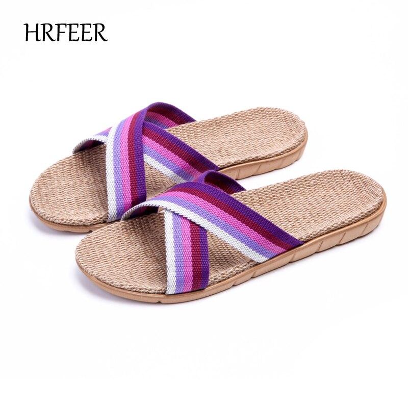HRFEER Гарячі жіночі білизняні тапочки - Жіноче взуття