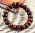 1.5cm Natural Jujube Wood Prayer Beads Bracelet  Wooden Rosary Crafts Bangle Buddha Buddhist Jewelry
