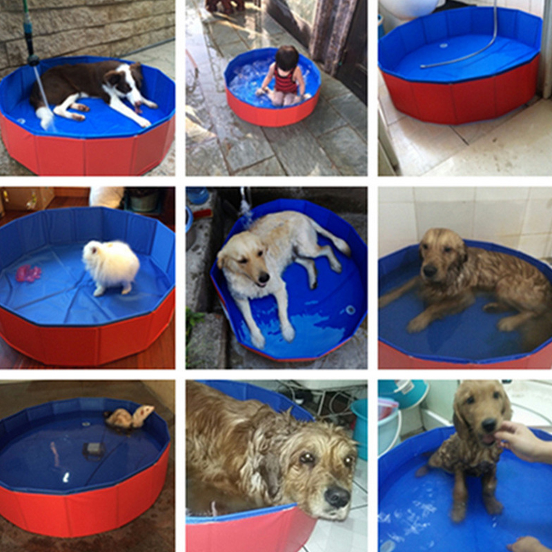Pet Products Large PVC Foldable Swimming Pool Bathtub For Small Dog And Cat Teddy Fold Bath Dog Accessories Best Sell