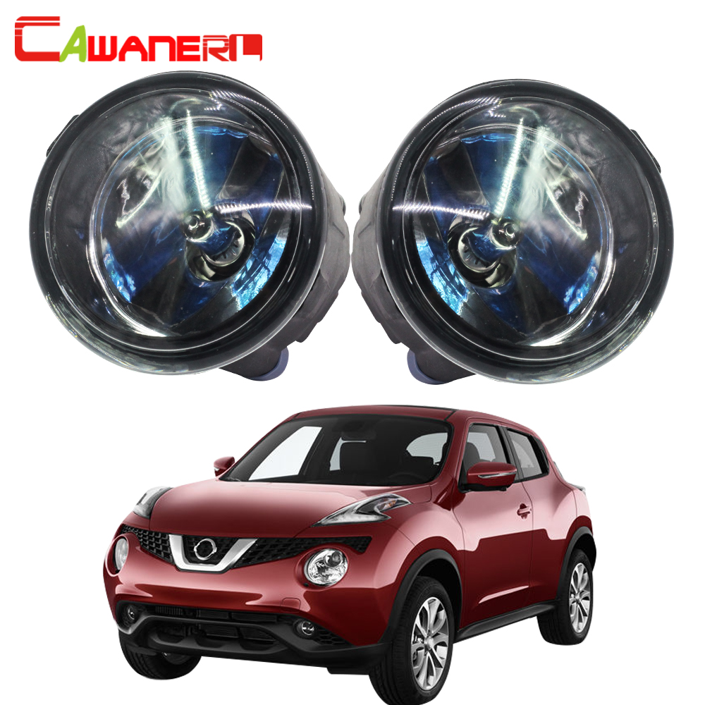 Cawanerl For Nissan Juke F15 Hatchback 2010-2014 100W Car Halogen Fog Light DRL Daytime Running Lamp 12V Accessories cawanerl for nissan murano cube car