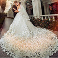 Luxury White Wedding Dresses with Flowers Strapless White Bridal Dresses Beaded Elegant Wedding Dresses Cathedral Train