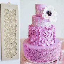 Rose Cake Molds Fondant Mould DIY Baking Tools For Cakes Silicone Suagrcrafts Decorating