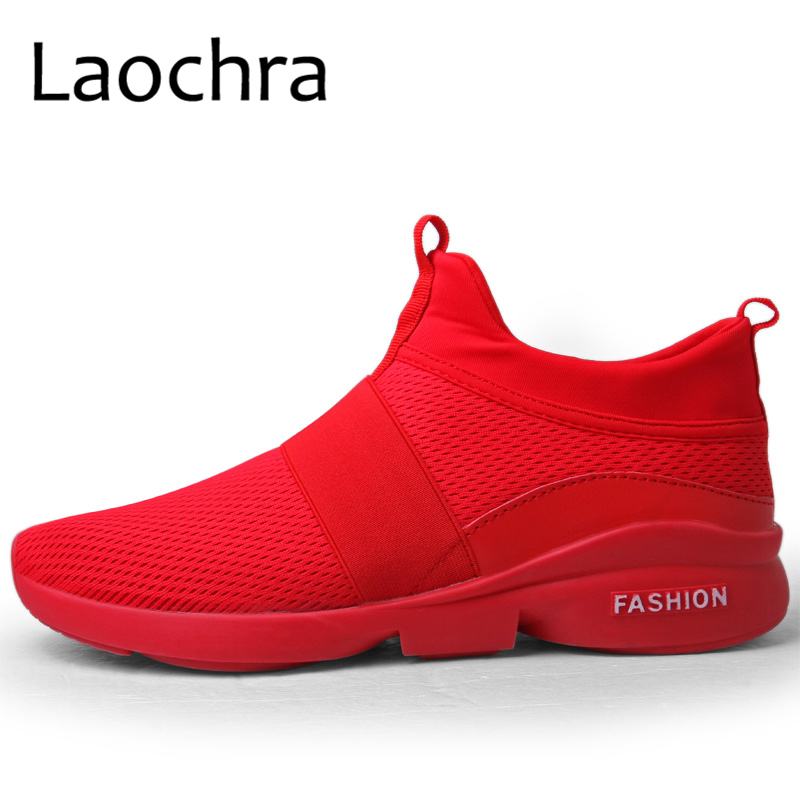 LAOCHRA Grande Taille 45 46 Hommes Printemps Respirant Mesh Sneakers - Chaussures pour hommes - Photo 2