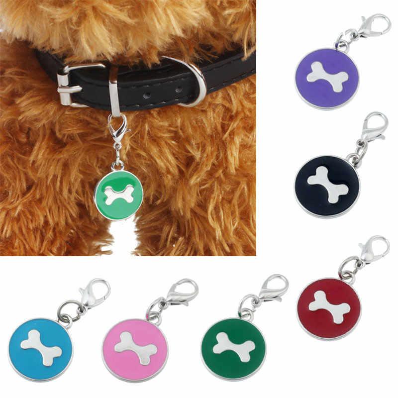 Acessorios Anjing Kerah Fashion Populer Bulat Tulang Anjing Berlian Imitasi Liontin Hewan Peliharaan Perhiasan Baru Coleira untuk Cachorro
