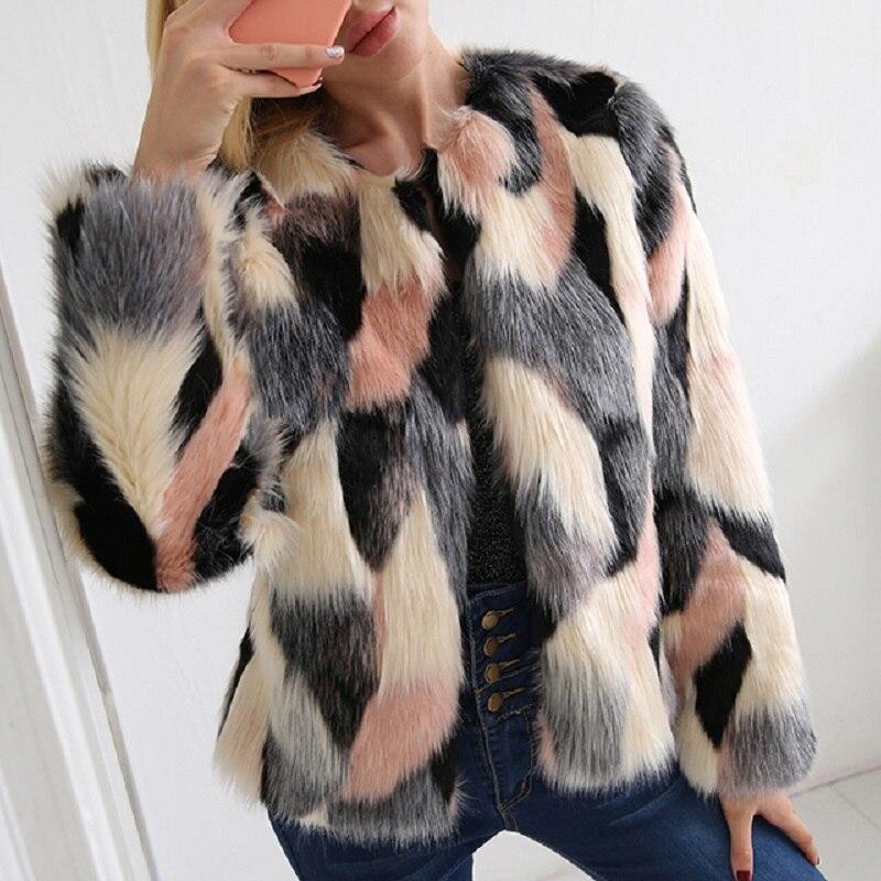2 style Longues Veste Hiver Chaud Manches Fluffy Fourrure Femmes Automne Taille Style 2x Femelle Manteau Fausse La Plus Poilu Survêtement 7q2182 À style 3 1 cqxwB1PaZW