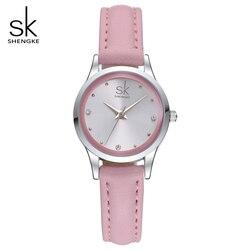 Sk new fashion female s watches pink leather girl wristwatches elegant diamond quartz clock comfortable buckle.jpg 250x250