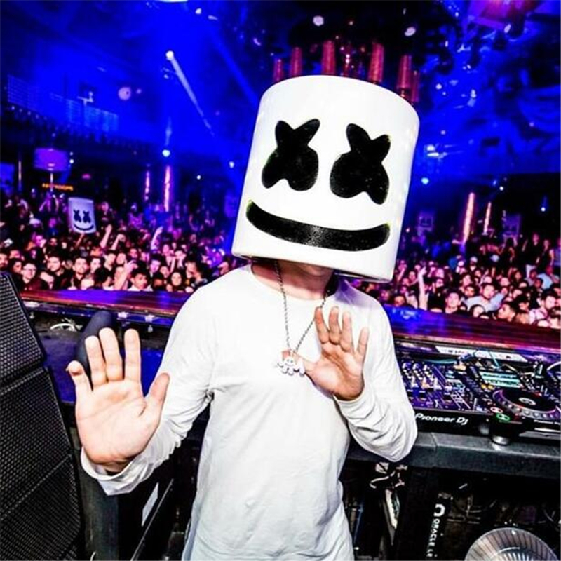 DJ Marshmello Mask Full Face Costume Carnaval Prop Latex (Mask Type)