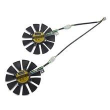 2 шт./лот 87 мм PLD09210S12HH 4pin GTX 1070 Видеокарта кулер вентилятор заменить для ASUS GTX 1070 двойной GTX1060 графический карт охлаждения