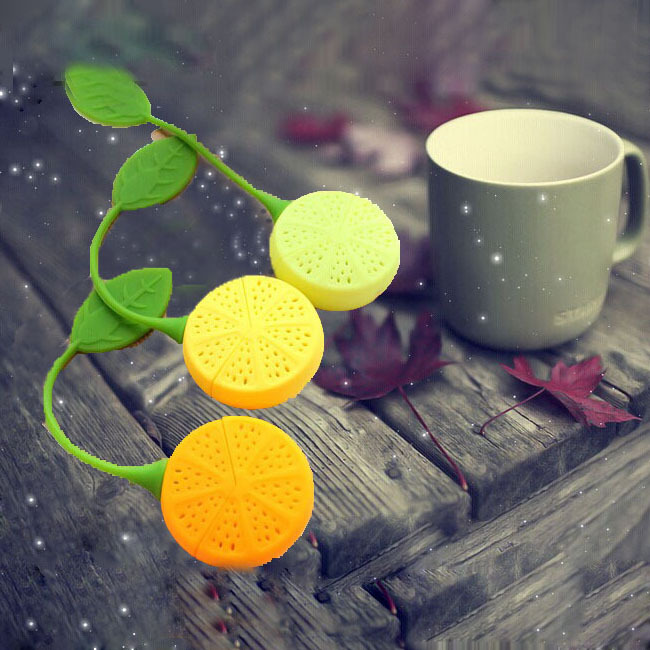 FoodyMine Tea Strainer Silicone Strawberry Lemon Design Loose Tea Leaf Strainer Bag Herbal Spice Infuser Filter Tools форма для нарезки арбуза