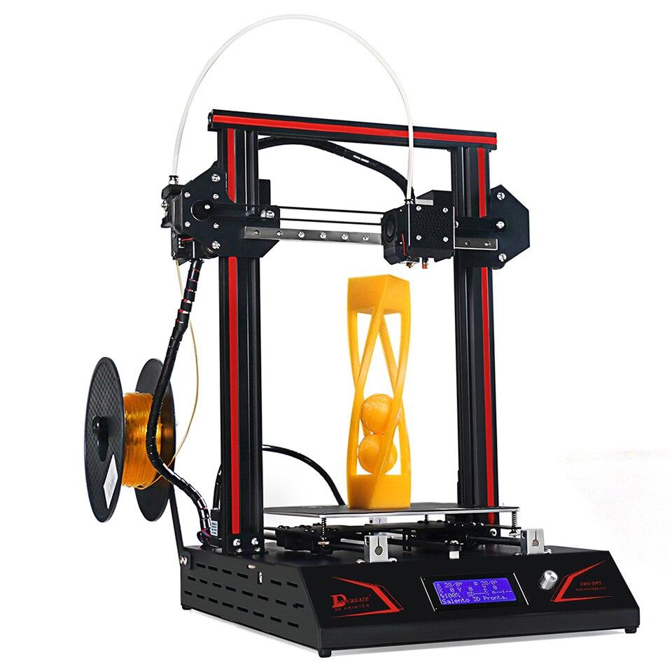 DMSCREATE DP5 3D Imprimante 2018 date de mise à niveau En Métal Plein Cadre Linéaire Rail de Guidage Poulie Roue i3 Kit grande taille, 24 v alimentation