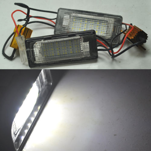 CYAN SOIL BAY 2X Error Free LED License Plate Light For VW touran Touareg Polo jetta Passat 3C B6 2011 2012 13 14 Lamp