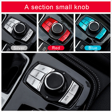 Car Interior Multimedia Buttons Cover Sticker Knob Frame Decoration For bmw f30 f10 f20 f25 f07 x1 x3 x5 x6 3 Series