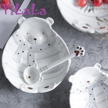 Japanese-style So Cute Ceramic Dinner Plate Set Help Kids Love To Eat(China & Buy love plate set and get free shipping on AliExpress.com
