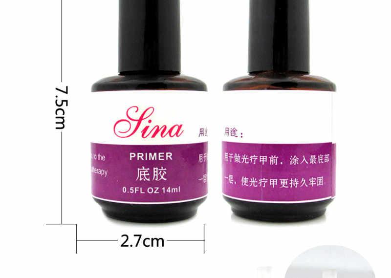 Maquillaje Profesional acrílicos maquiagem UV Primer Base Gel UV para arte de uñas esmalte 14ml NT016