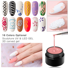 Mtssii 3D Embossment Gel Nail Polish Carving Drawing Paintin