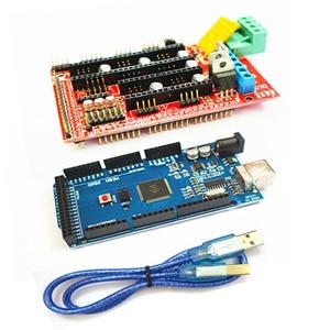 Image 3 - Cnc 3D Printer Kit Voor Arduino Mega 2560 R3 + Ramps 1.4 Controller + Lcd 12864 + 6 Eindschakelaar endstop + 5 A4988 Stepper Driver