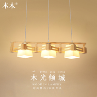 American Country Style Pendant Light E27 / E26 Socket Droplight wood indoor Decoration Hanging Lamp