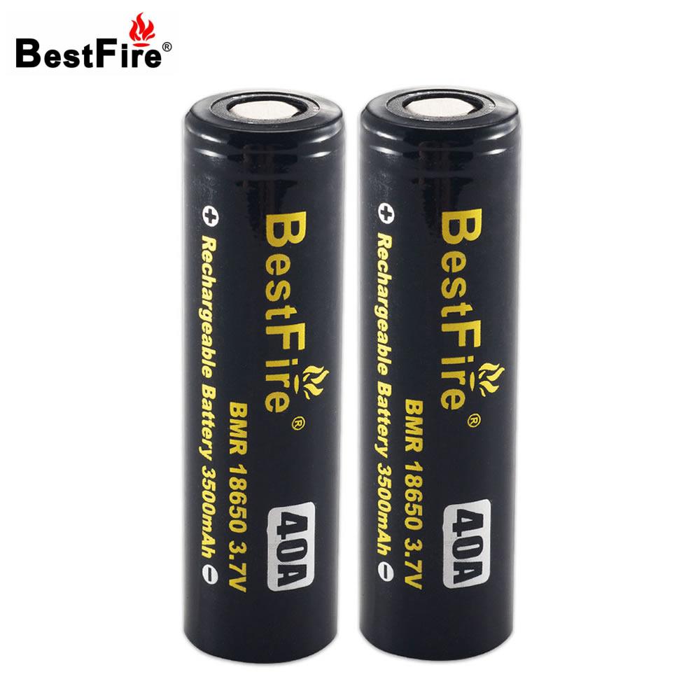 Bestfire 18650 Battery Li-ion Battery 3500mAh 3.7V 40A Rechargeable Battery for E-Cigarette/LED Flashlight/Toy стоимость