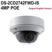 HIKVISION Original English Version DS-2CD2742FWD-IS Outdoor IP camera Varifocal POE P2P Onvif Security CCTV Camera