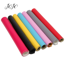 JOJO BOWS 22*30cm 1pc Faux Synthetic Leather Fabric Solid Sh