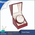 Caso de madeira 2 + 0 Automatic watch winder, orignal Marca de Luxo Dobadoura do Relógio De Madeira Vermelha Caixa de Exposição