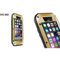 LOVE MEI Powerful Metal Anti Knock Cover Luxury Aluminum Dirt Waterproof Shockproof Case For IPhone