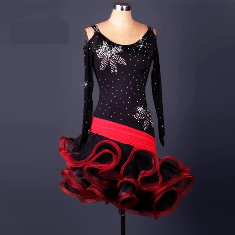 2017 New arrive Adult/Children Latin Dance Dress Women /Lady Cha Cha/Rumba/Samba/Tango/Ballroom Dance Skirt Diamonds Costumes
