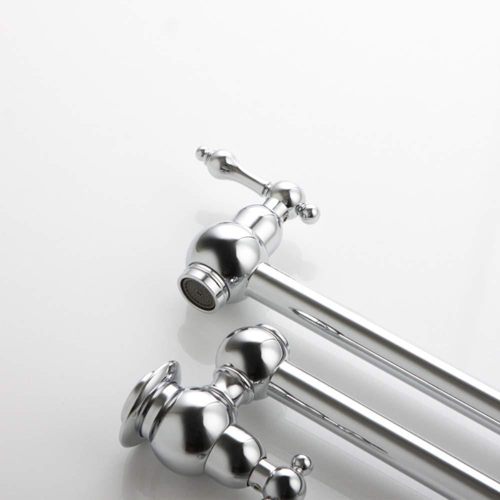 Support mural Pot de remplissage robinet pliant laiton chrome extensible Double Joint bras oscillant robinet de cuisine - 2