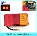 1 Pcs 12 V 40 LED Lanterna Traseira de Caminhão Do Carro Van Trailer Luz Da Cauda Da Lâmpada E-Marcado universal para o carro frete grátis
