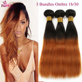 Ombre Peruvian Virgin Hair 3 pcs Blonde Ombre weave bundles Ombre Human Hair 7A Ombre Hair Extensions straight weave for sale