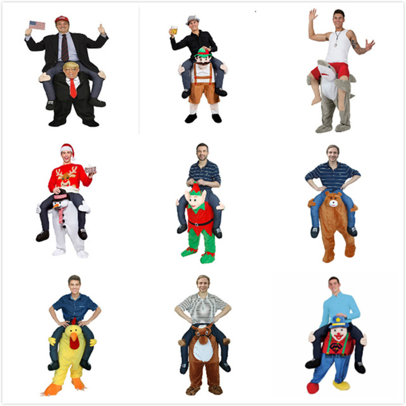 Funny Cosplay Donald trump Pants Halloween Party Costumes Horse Ride On Clothes Carry Back Novelty Mascot