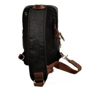 Image 4 - Мужская нагрудная сумка Muchuan 6030 # для спорта на открытом воздухе, сумка через плечо, водонепроницаемая Холщовая Сумка из масляного воска для жизни, аксессуары и 8 дюймовый ноутбук