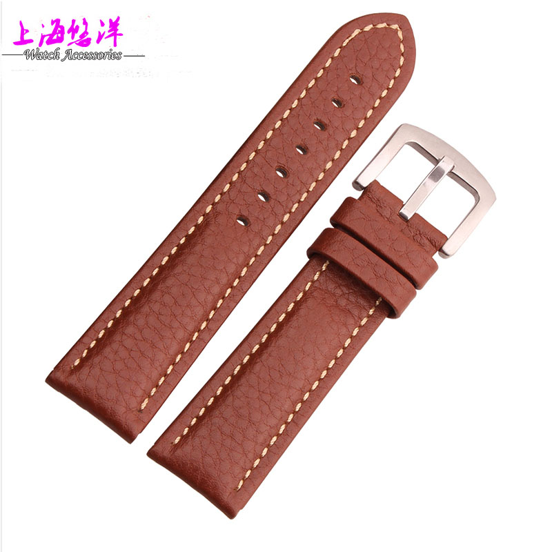 High quality imported leather bracelet calfskin leather Watchband Black Brown watches accessories 1820 22mm