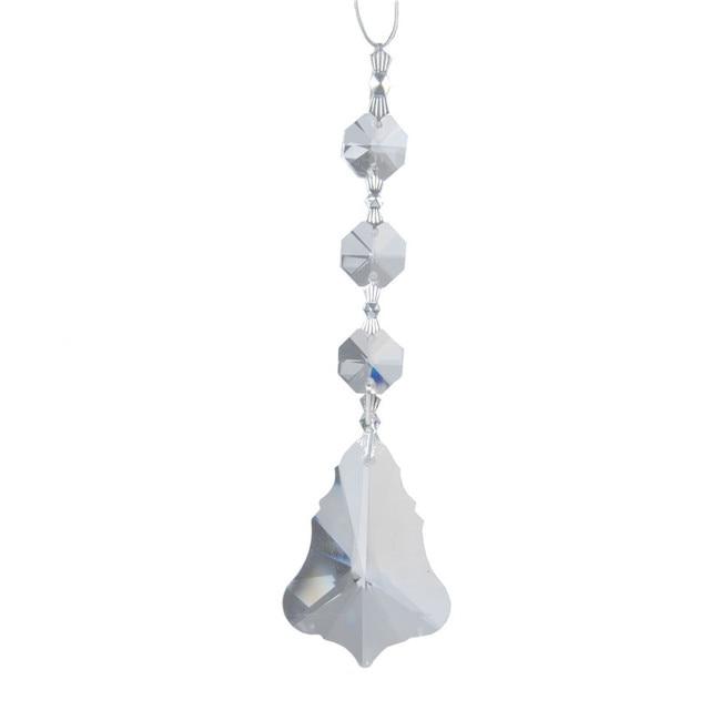 Aliexpress.com : Buy 50mm Maple Leaf Clear Glass Crystal Prisms ...