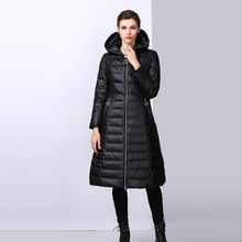 Women Down Parka 2018 New Brand Winter Long Jacket Female Casual Thick Hooded Parka Outwear Warm White Duck Down Coat FR1005 new 2016 children boys winter long down coat hooded fur puffer jacket kids thick warm coats windproof parka snowday outwear