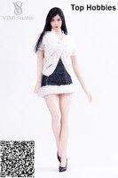 Vs053 vimi 1/6 женская одежда джинсовая юбка белый жилет свитер костюм для 12 дюймов девушка Phicen/HT TTL игрушки/ jodoll/Средства ухода за кожей фигурку