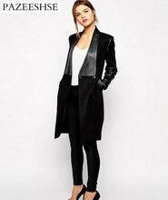 2016 New Patchwork Women Basic Coat Slim Woolen Autumn Winter Coat Full Sleeve Female Jackets Fashion Temperamental Coats Female