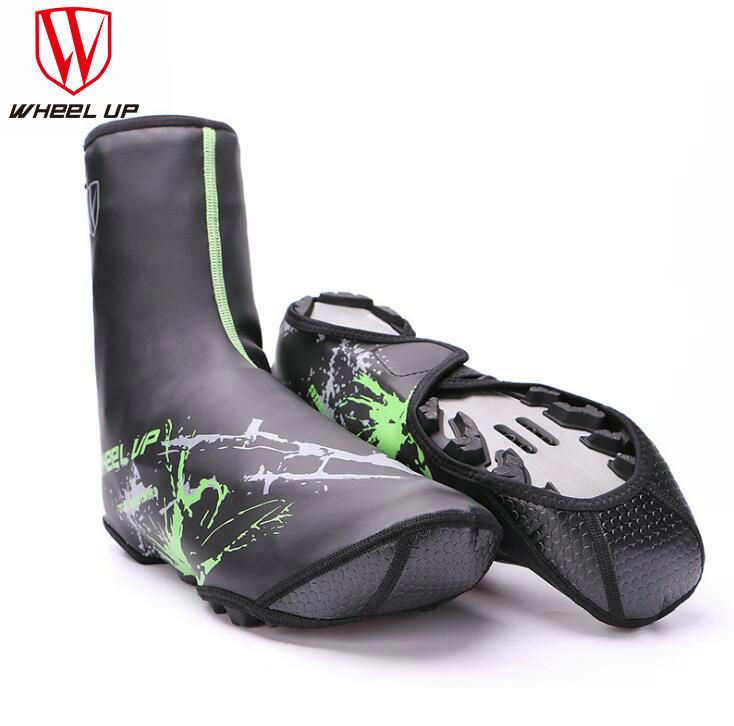 WHEEL UP 2017 NEW winter PU waterproof cycling shoe cover bicycle keep warm fundas riding equipment for MTB mountain road bike