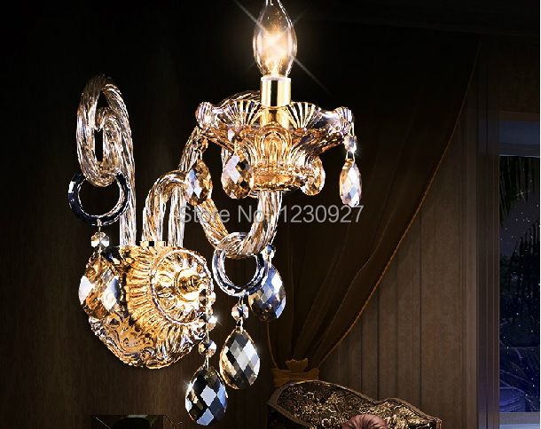 3W High quality led Crystal wall lamp European style luxury living room crystal wall lamp bedroom bedside lamp shining bright modern high quality k9 crystal wall lamp arandela for home bedroom living room led wall light european luxury led crystal lamp