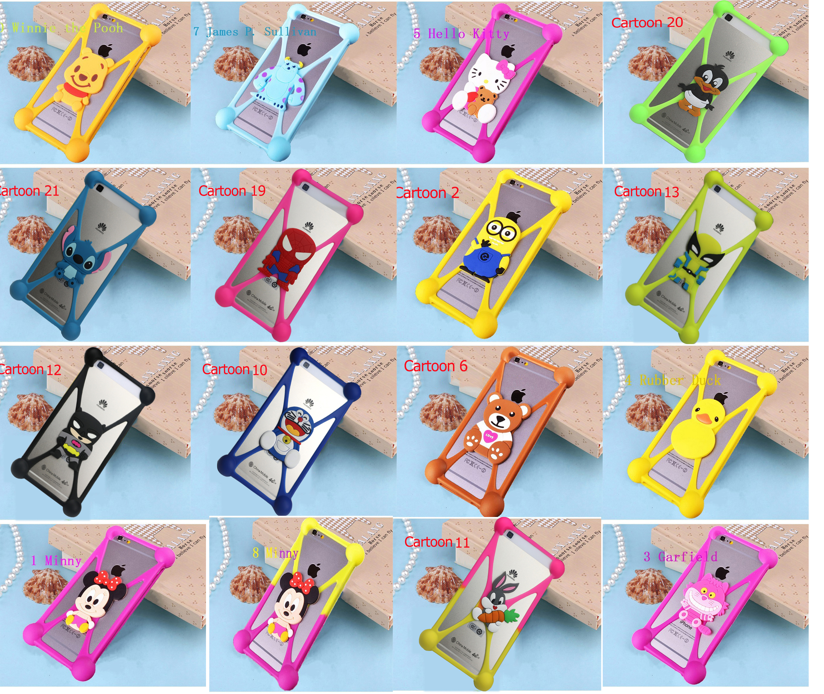 Cute Cartoon Hello Kitty Batman Minnie Minions Stitch Soft Silicon Case Cover For Google Pixel 2 XL For Gretel A6 A7 A9 GT6000