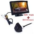 Full HD Del Coche Ayuda del Estacionamiento de 5 Pulgadas TFT LCD de Coches Inversa retrovisor Monitor + visión Nocturna Cámara de Visión Trasera Envío Gratis