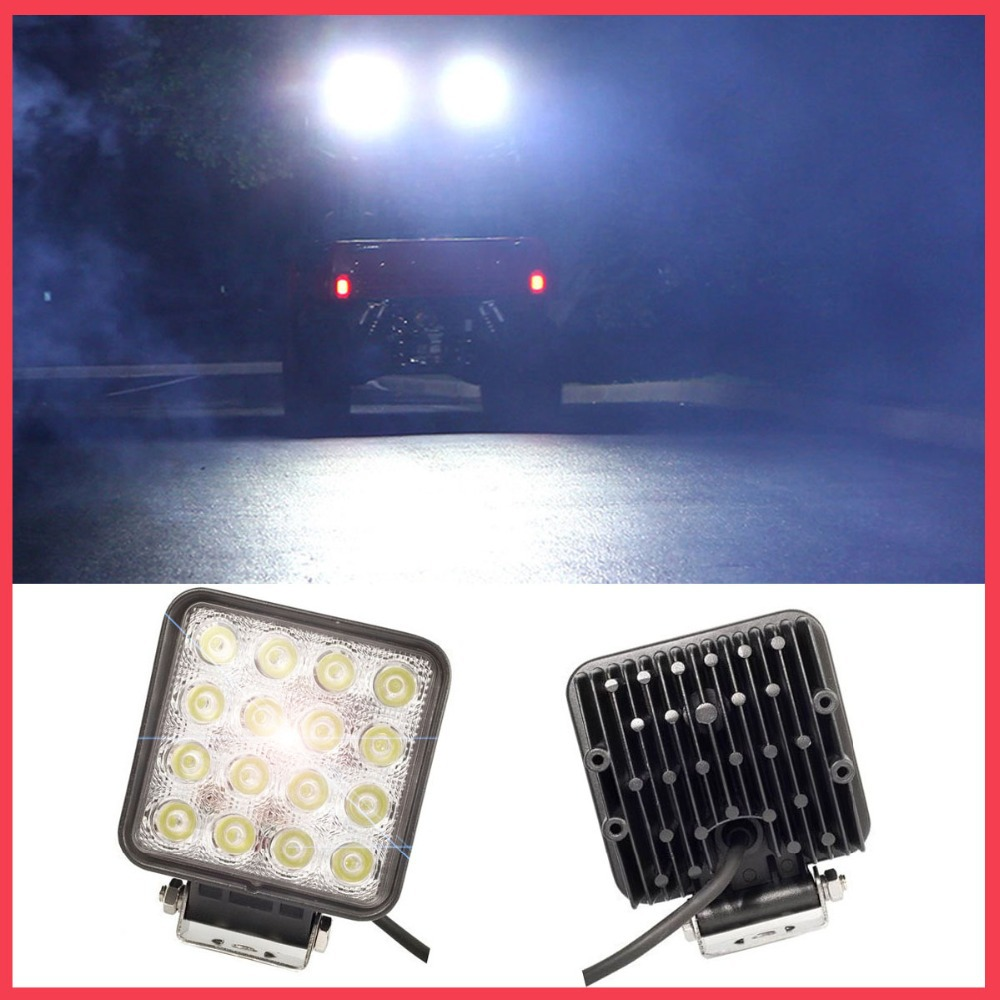 48W Car LED bar offroad 4X4 work Light for Indicators Motorcycle Driving Off road Boat Car Tractor Truck SUV ATV Flood 12V 24V 18w 5d flood spot led work light atv off road light lamp fog driving light bar for 4x4 offroad suv car truck trailer tractor 12v